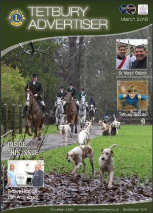 cover of the March issue of the Tetbury Advertiser