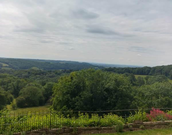 view from Newark Park across to the River Severn