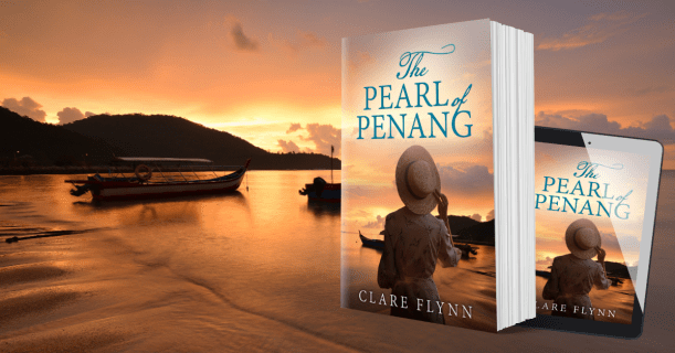 cover of The Pearl of Penang against Malaysian backdrop