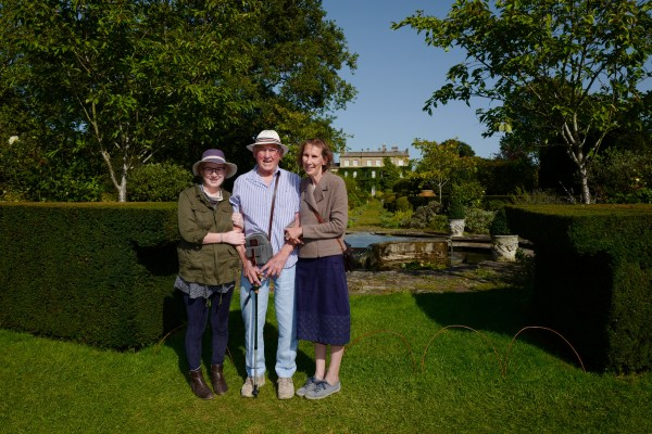 Photo at Highgrove of Debbie, her dad and her sister