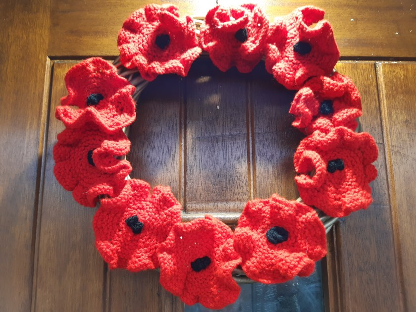 photo of poppy wreath