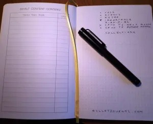 image of spread in my bullet journal