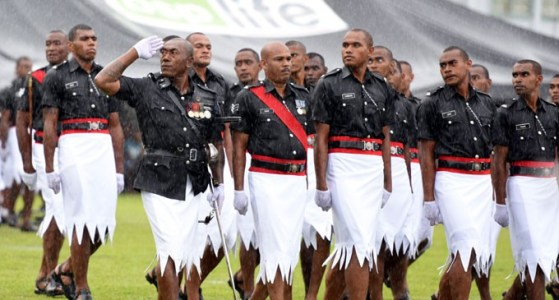 photo of Fijian police in uniform
