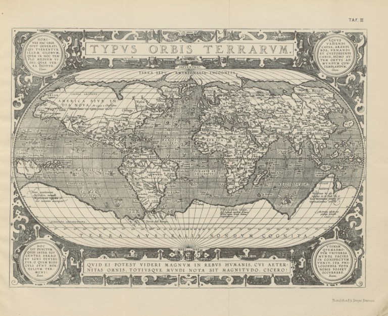 historic map of Terra Australis