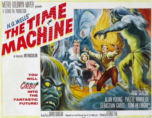 image of the original film poster of the 1960 movie, The Time Machine