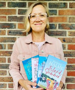 photo of Helena Halme with some of her books