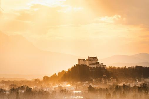 Photo of hill-top castle in Salzburg