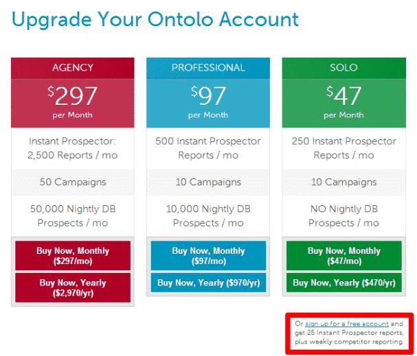 ontolo free account