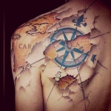 101 HandPicked Compass  Nautical Tattoo Design Ideas  AuthorityTattoo