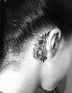 Behind the ear tattoo also pain  how much do they hurt rh authoritytattoo