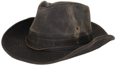 d69a320f750ce Dorfman-Pacific Weathered Cotton Outback Hat With Chin Cord
