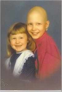Bald Kati and her sister.