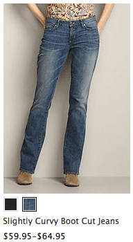 """Can someone explain to Eddie Bauer what """"curvy"""" means?"""