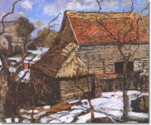 Pennsylvania Barn in the Snow by Walter Schofield