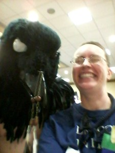 """Can I get a pic with you?"" ""Yes, then nevermore."""