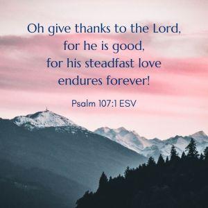 Psalm 107:1 Bible verse