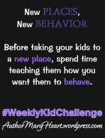 When kids go to a library, we expect them to act differently than if they were at the playground. But without being taught how we expect them to behave, they may not always act how we want them to. So that is what we will be working on for this #WeeklyKidChallenge.