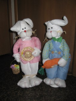 Mr. and Mrs. Easter Bunny have arrived!