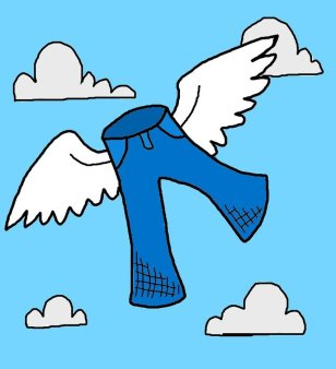 pants with wings - flying by seat of pants