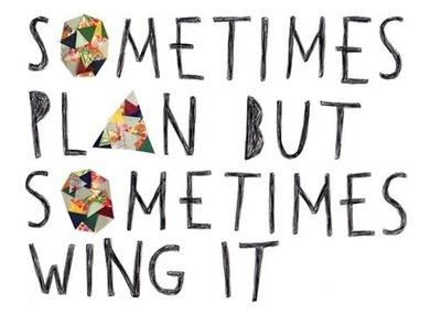 sometimes plan sometimes wing it
