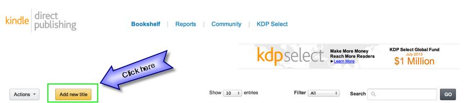 KDP Add Title