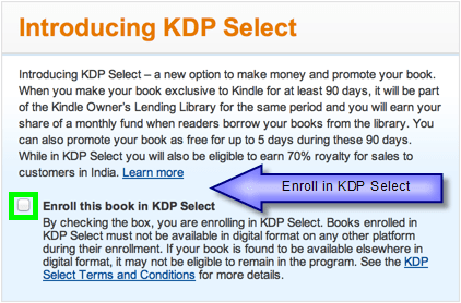 KDP Enroll in KDP Select