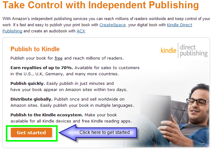 Self Publish with KDP Get Started