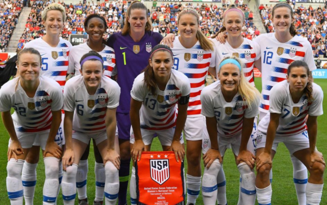 photo of us national women's soccer team squad 2019 world cup