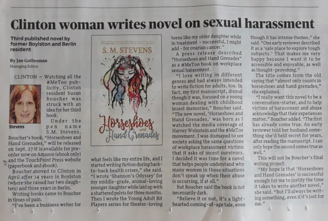 newspaper article on sexual harassment novel