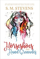 book cover horseshoes hand grenades colorful modern watercolor