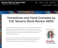 screenshot of book review blog review tales