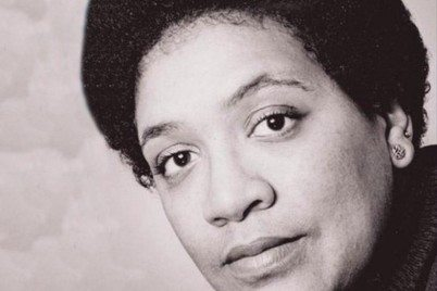 black and white photo of audre lorde