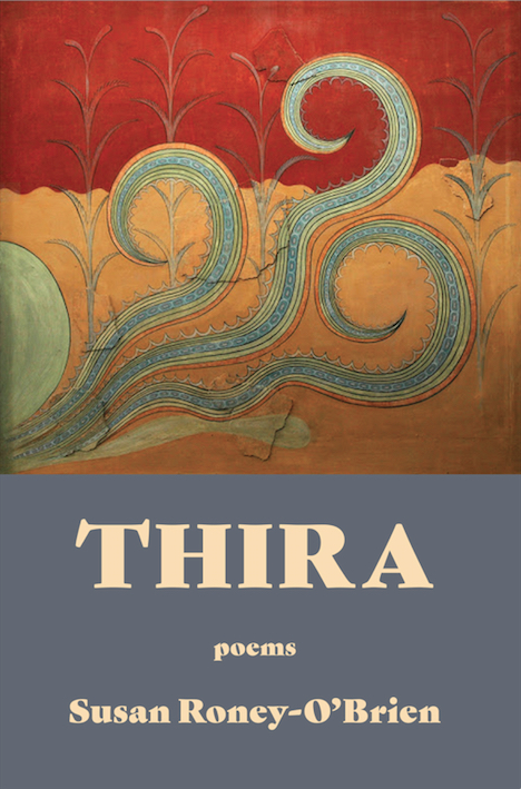 cover thira poems poetry red gold gray
