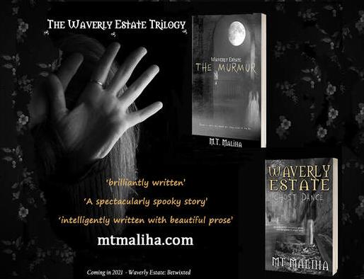 promo waverly estate trilogy, black-and-white, hand, books