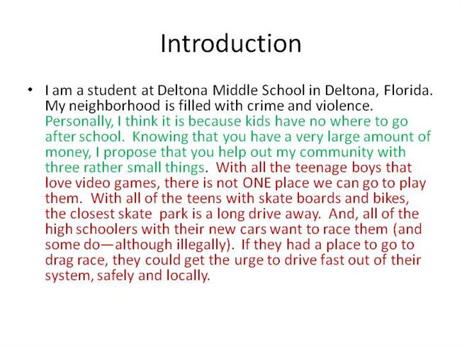 Sample Student Paragraphs 8Th Grade Only AuthorSTREAM