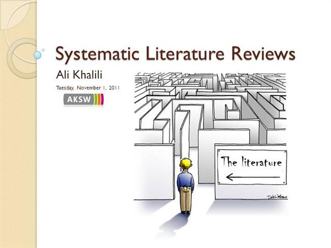Systematic Literature Review AuthorSTREAM