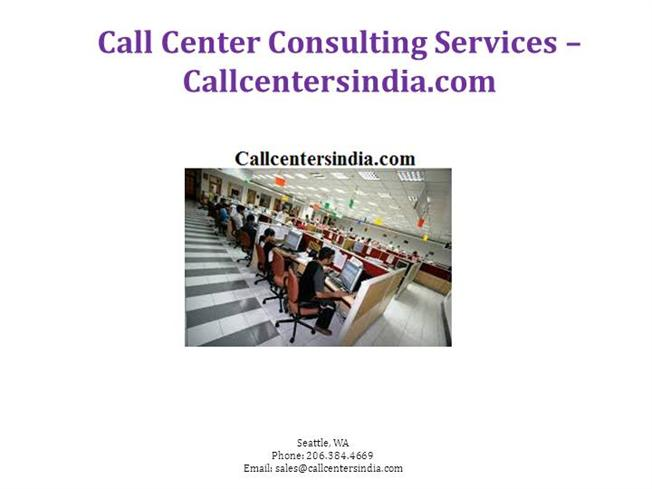 Call Center Consulting Services  CallcentersindiaCom authorSTREAM