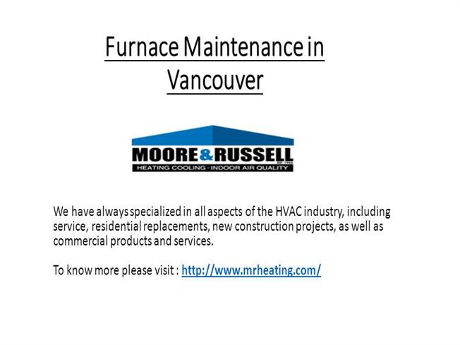 Furnace Maintenance in Vancouver