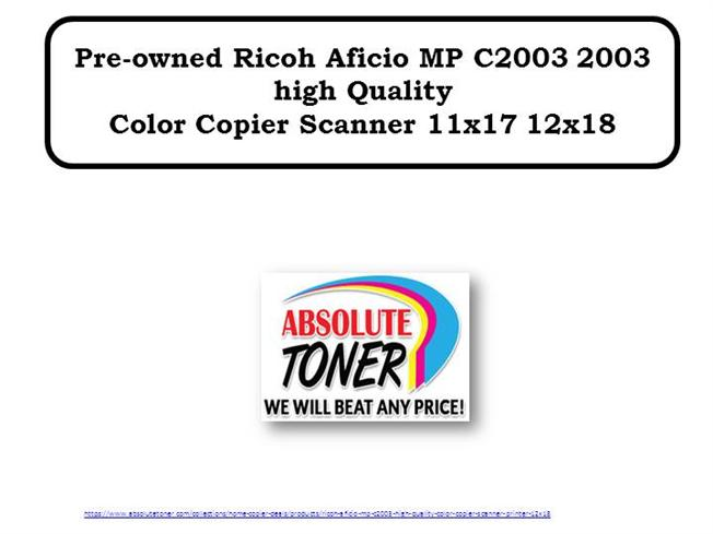 Pre-Owned Ricoh Aficio MP C2003 2003 High Quality Color