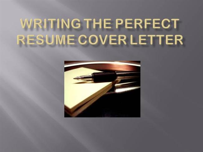 Writing the Perfect Resume Cover Letter authorSTREAM