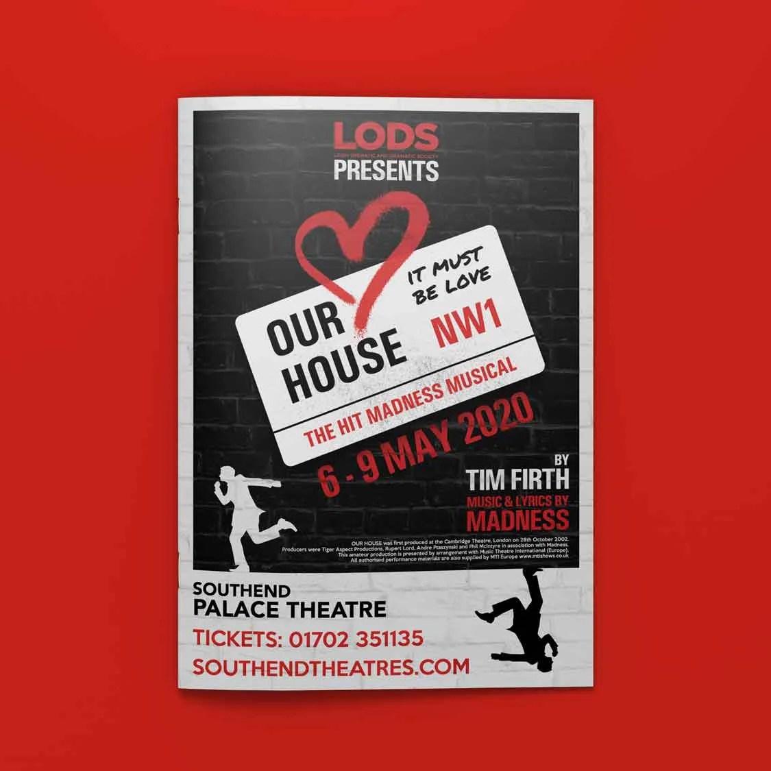 theatre publicity ideas our house the musical logo concept lods author studios