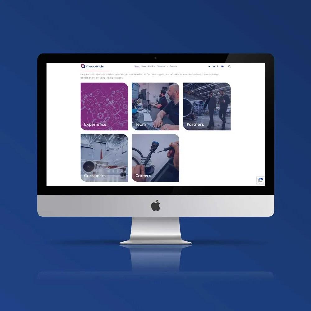 corporate website design inspiration frequncia ltd author studios imac