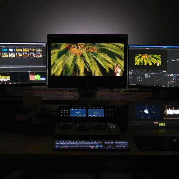 digital colourist website rebecca goodeve grading suite monitors