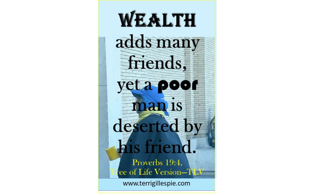 Wisdom's Journey: Proverbs 19:4