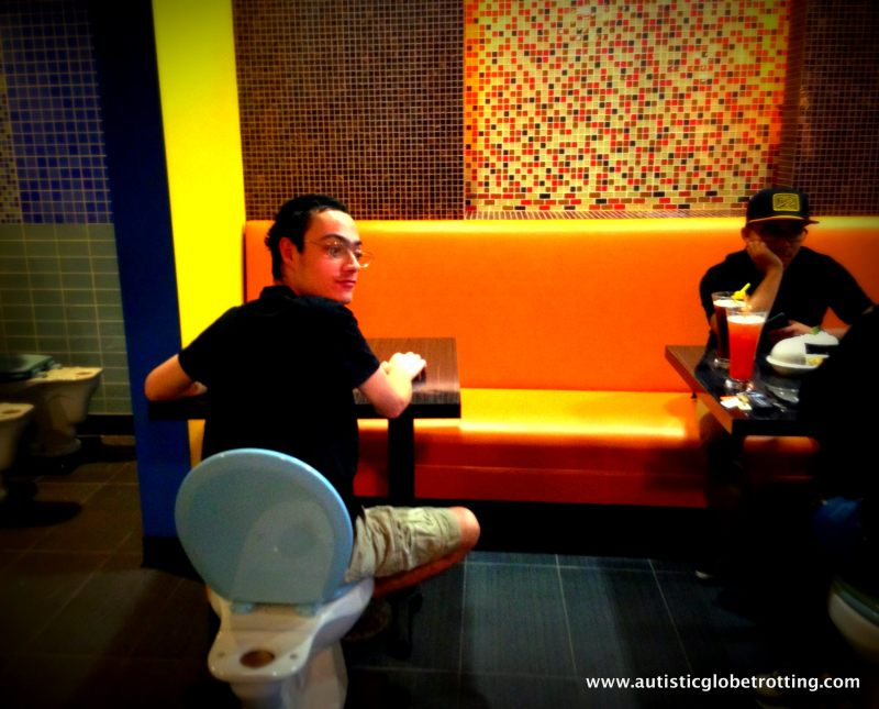Magic Restroom Cafe:Jeffrey Sees Around Is the Magic Restroom Cafe Fun for Kids with Autism?