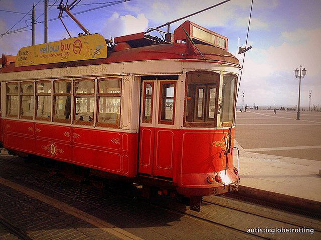 Taking Kids with Autism to Lisbon Portugal tram