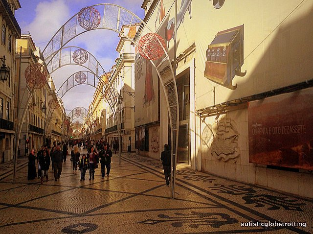 Taking Kids with Autism to Lisbon Portugal arch