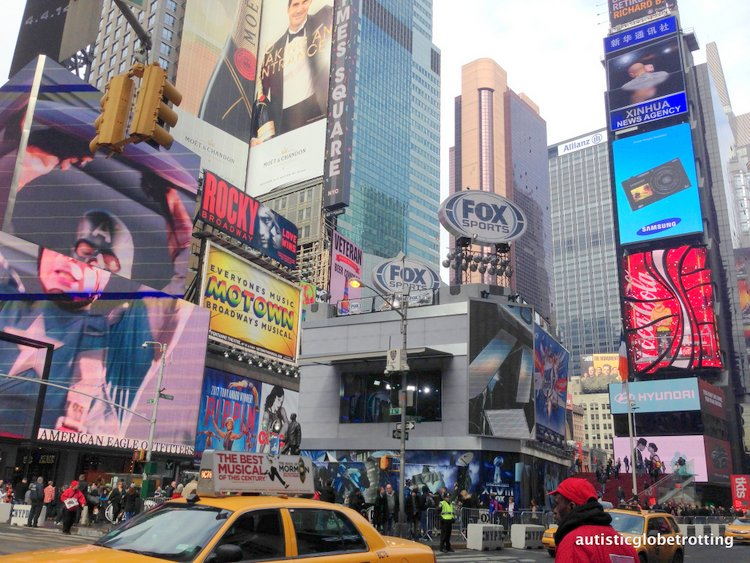 Top Five Kid Friendly Stores in NYC Times Square street