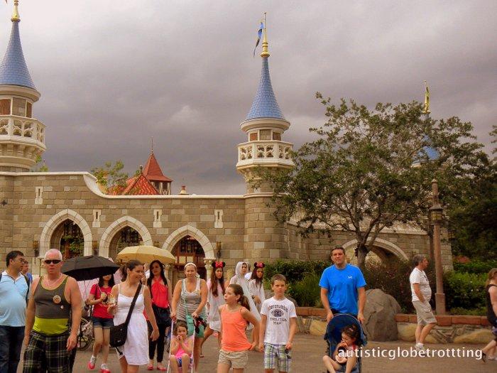 Fourteen Tips For Preventing Sensory Meltdowns at Disney World castle