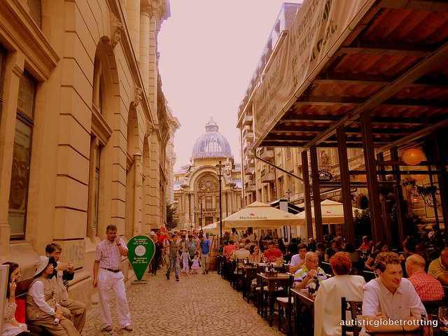 Visiting Bucharest –Our Top Autism Travel Spots street
